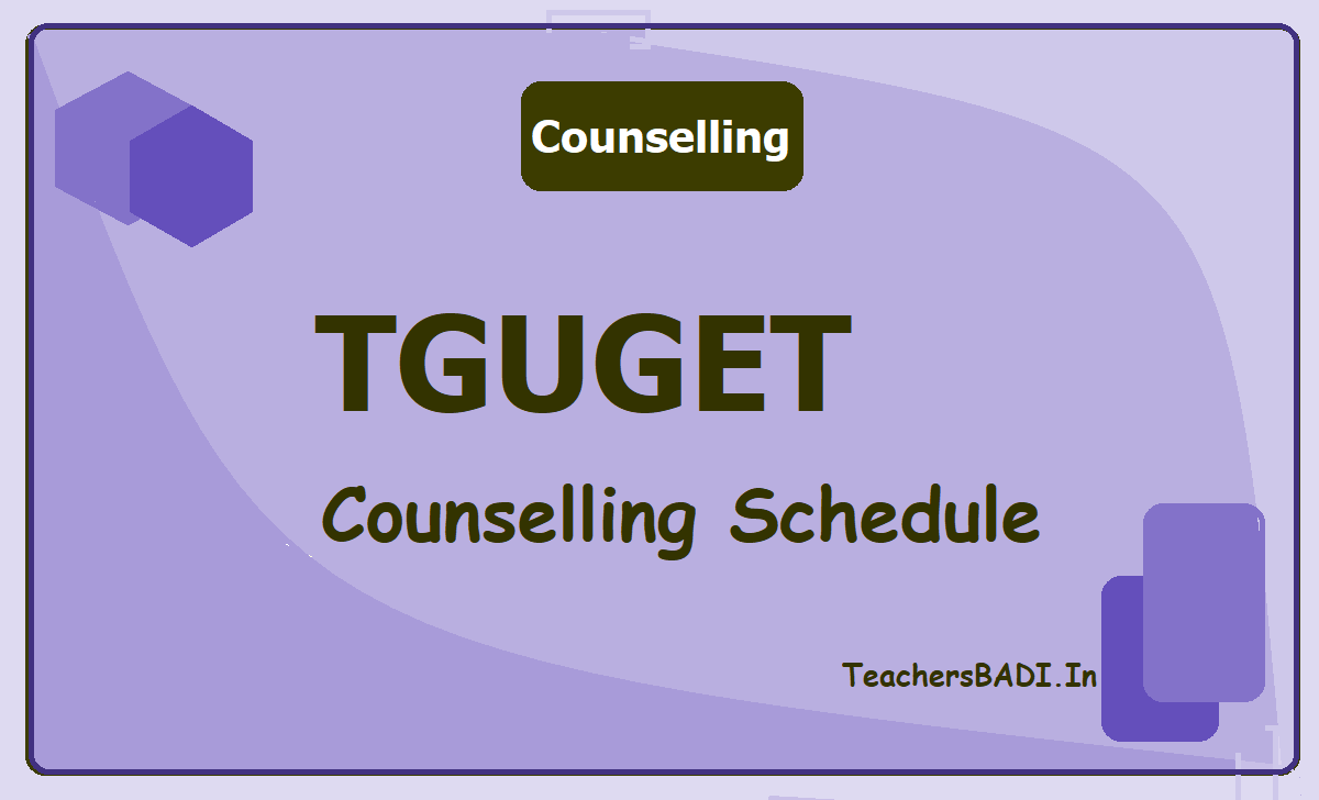 TGUGET Counselling Schedule 2020