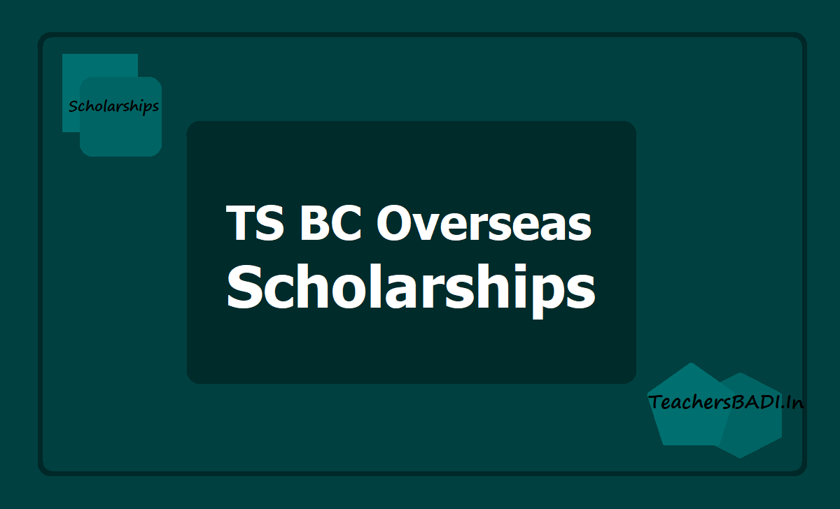 TS BC Overseas Scholarships
