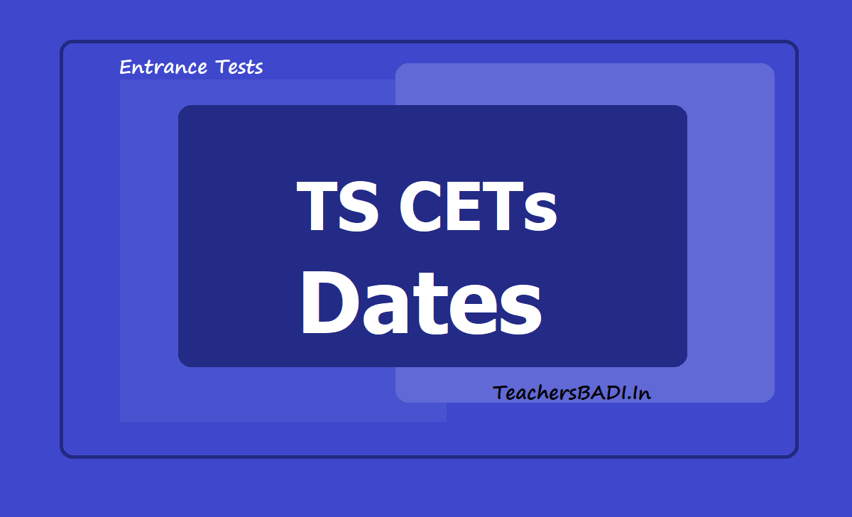 TS CETs Dates 2020