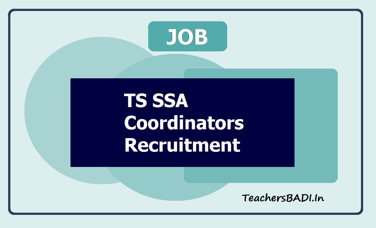 TS SSA Coordinators Recruitment 2020