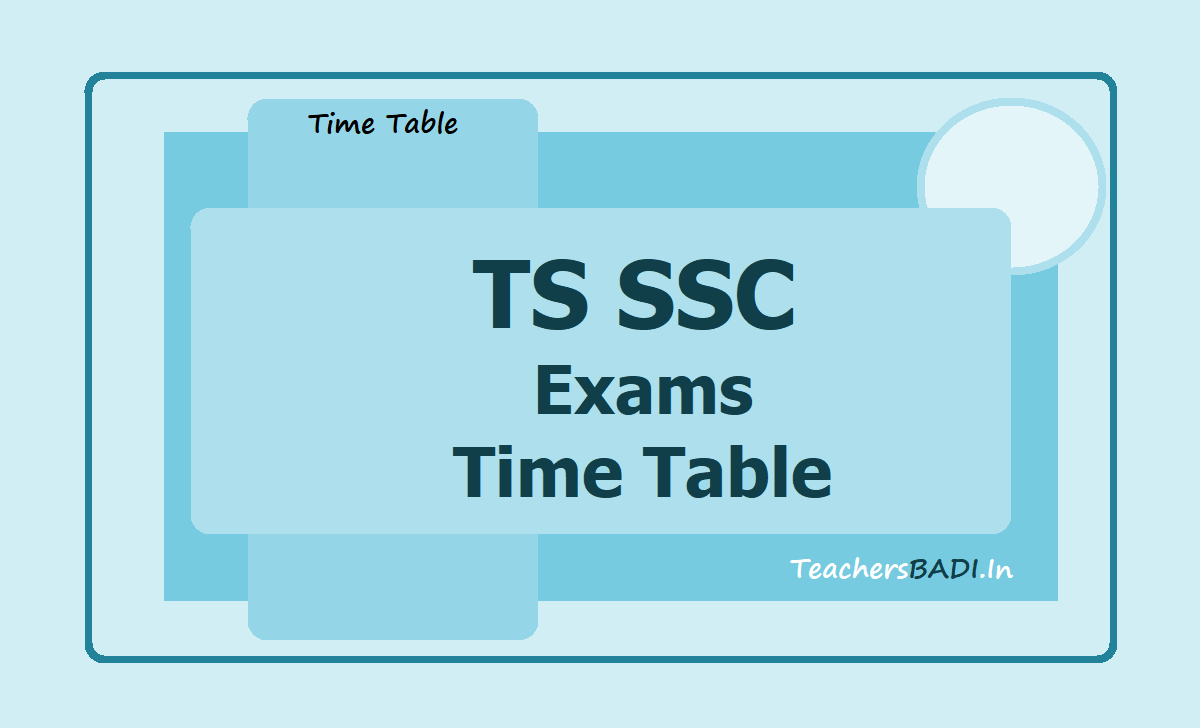 TS SSC Exams Time Table 2020