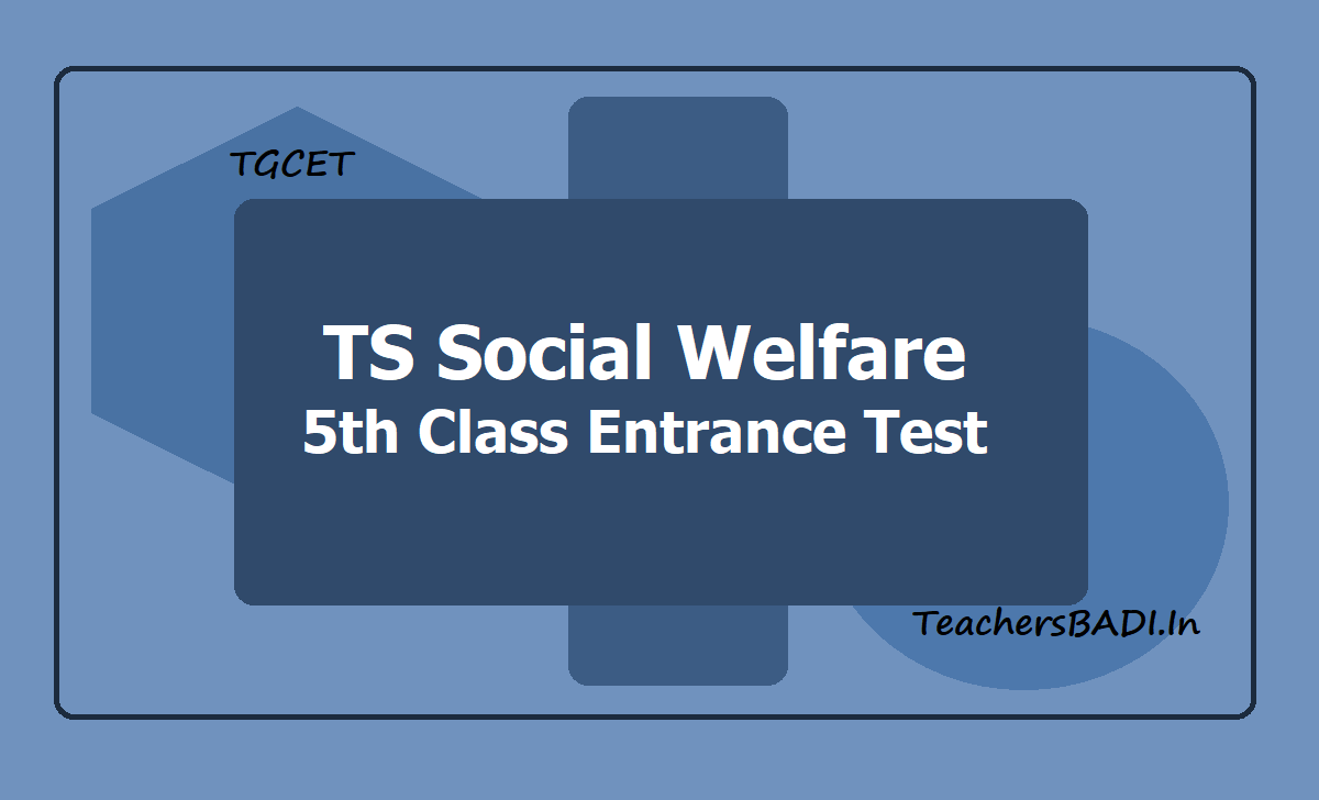 TS Social Welfare 5th Class Entrance Test