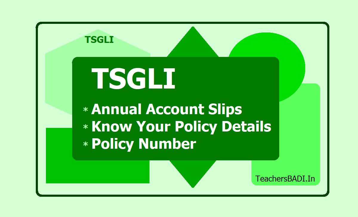 TSGLI Annual Account Slips, Know Your Policy Details, Policy Number