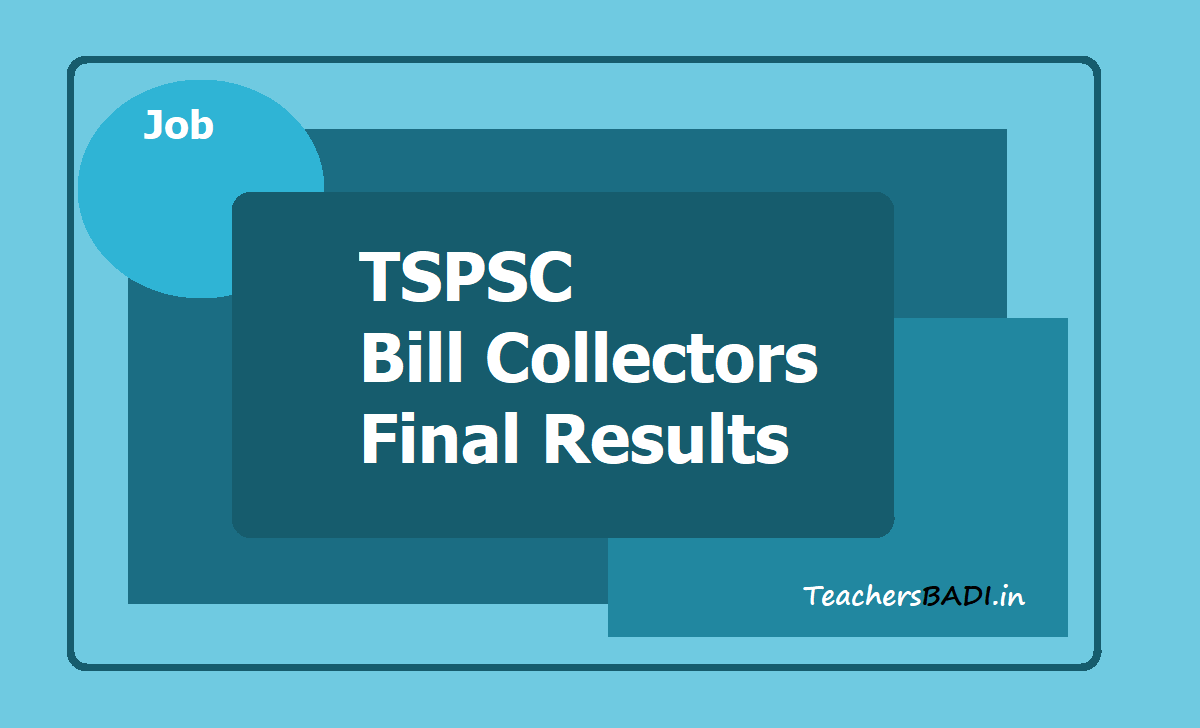 TSPSC Bill Collectors Final Results