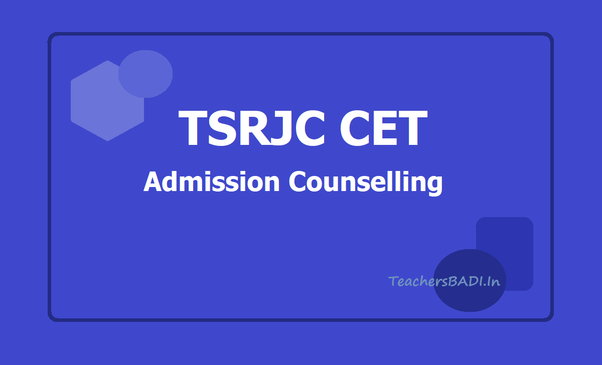 TSRJC CET Admission Counselling