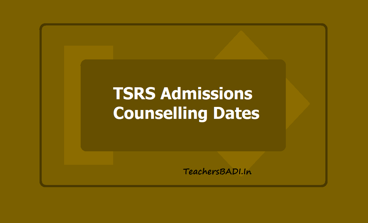 TSRS Admissions Counselling Dates