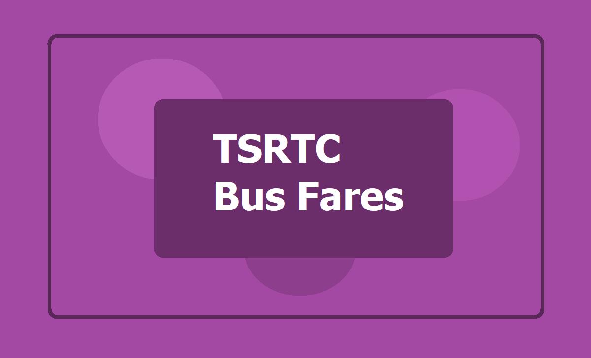 TSRTC Bus Fares 2020
