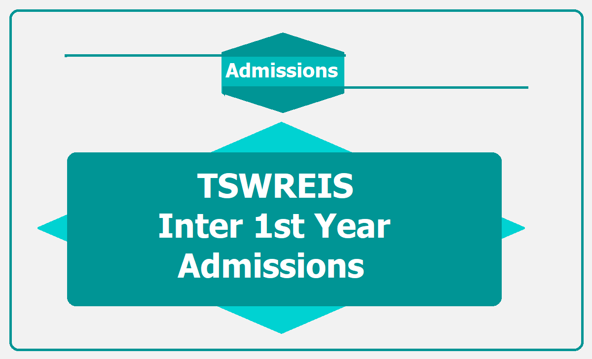 TSWREIS Inter 1st Year Admissions 2020