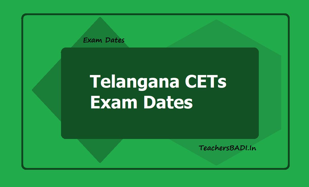 Telangana CETs Exam Dates