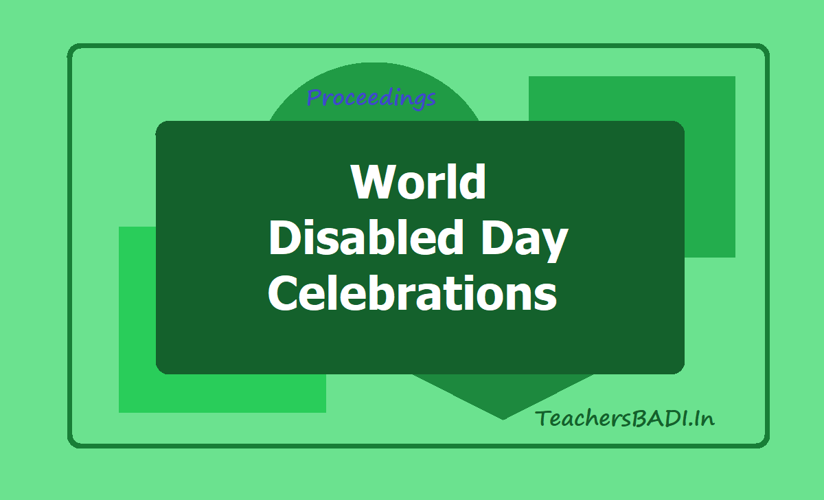 World Disabled Day Celebrations