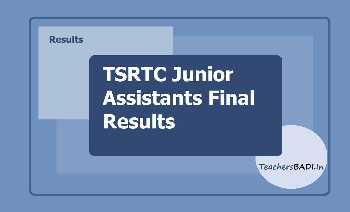 TSRTC Junior Assistants Final Results