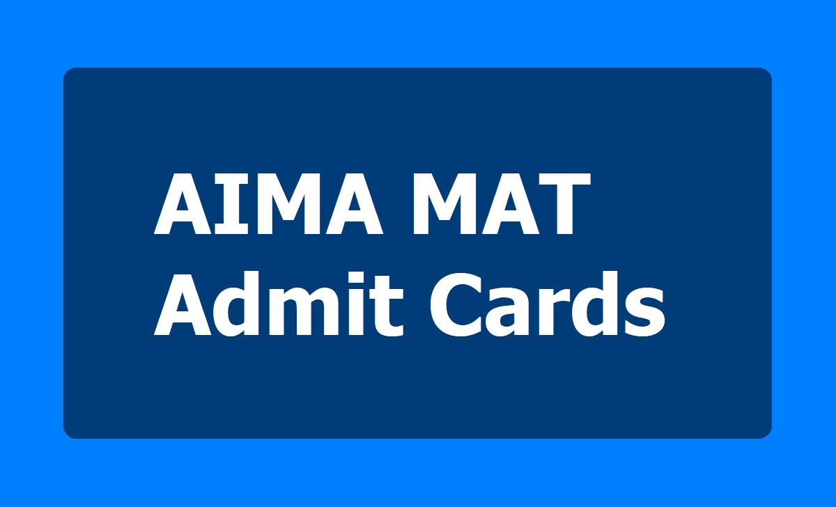 AIMA MAT February 2020 Admit Cards