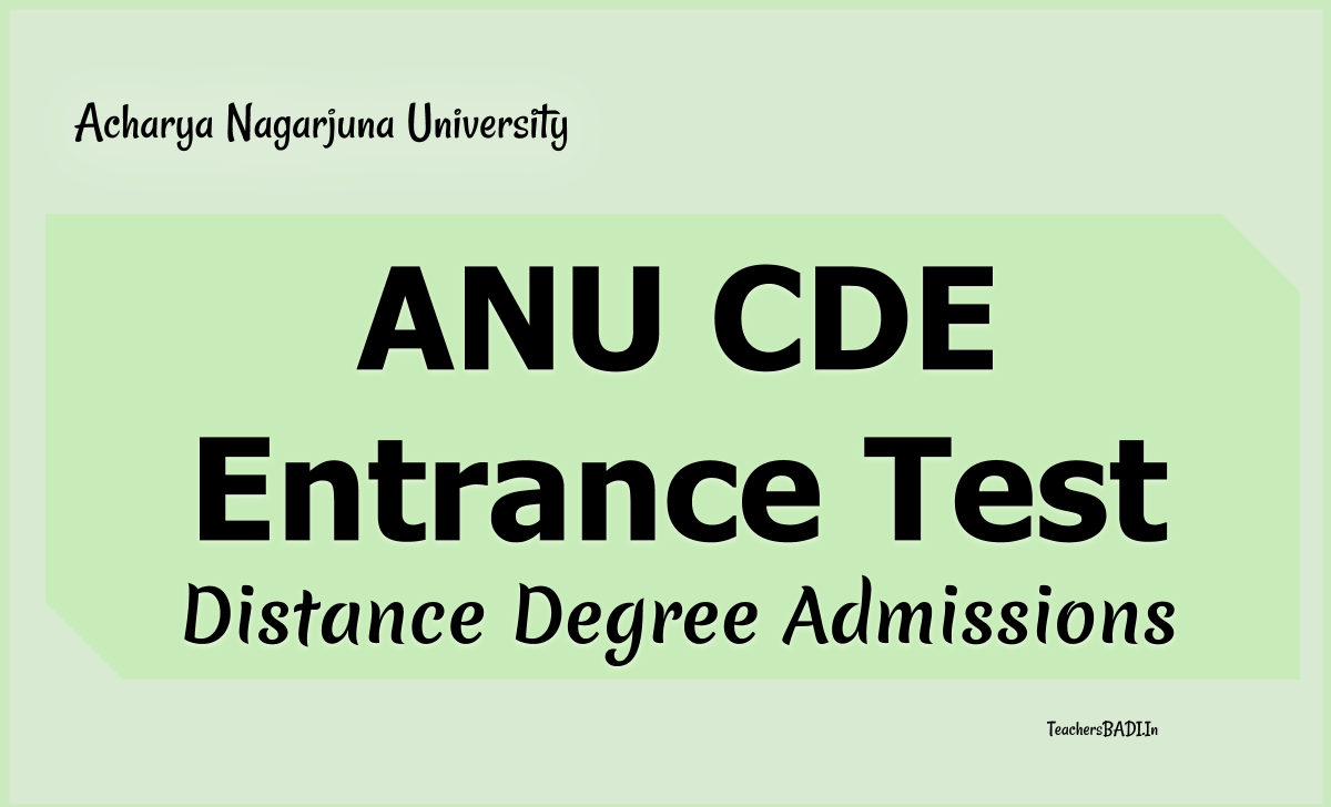 ANU CDE Entrance Test 2020 for Distance Degree Admissions