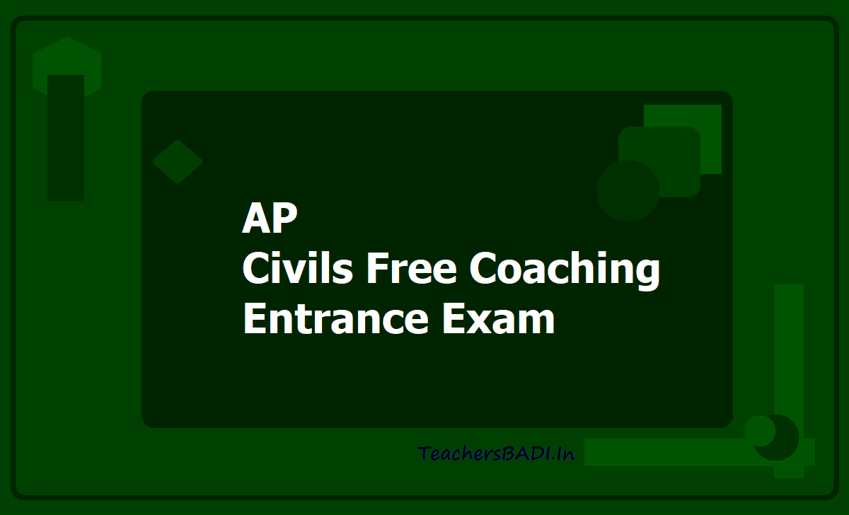 AP Civils Free Coaching Entrance Exam 2020 (Vidyonnati Scheme)
