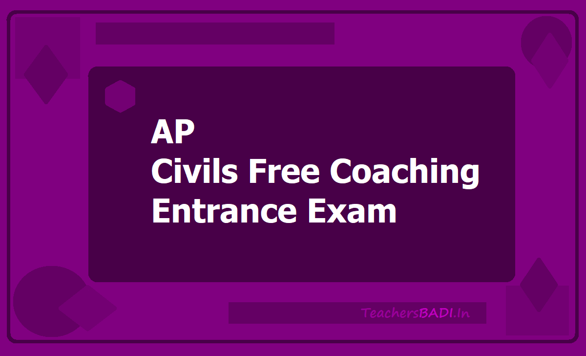 AP Civils Free Coaching Entrance Exam