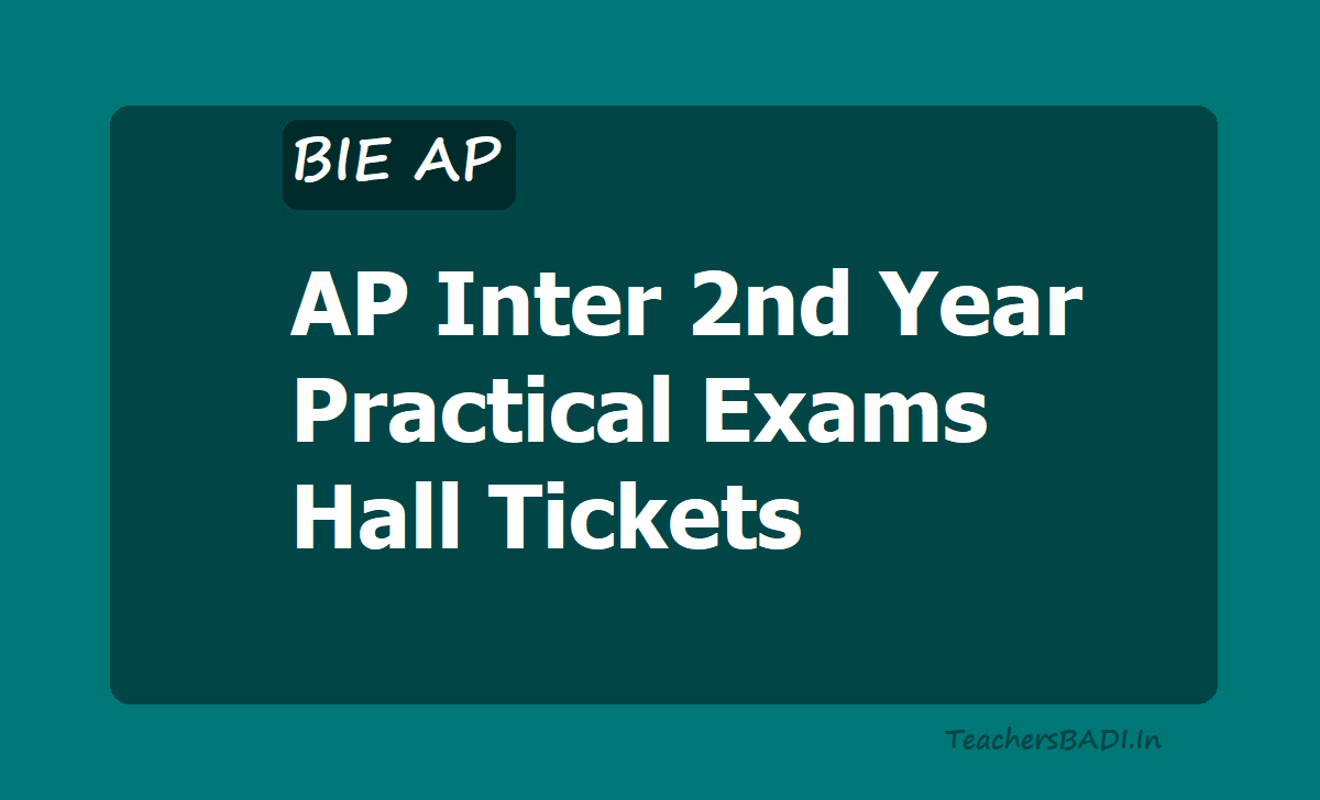 AP Inter 2nd Year Practical Exams Hall Tickets