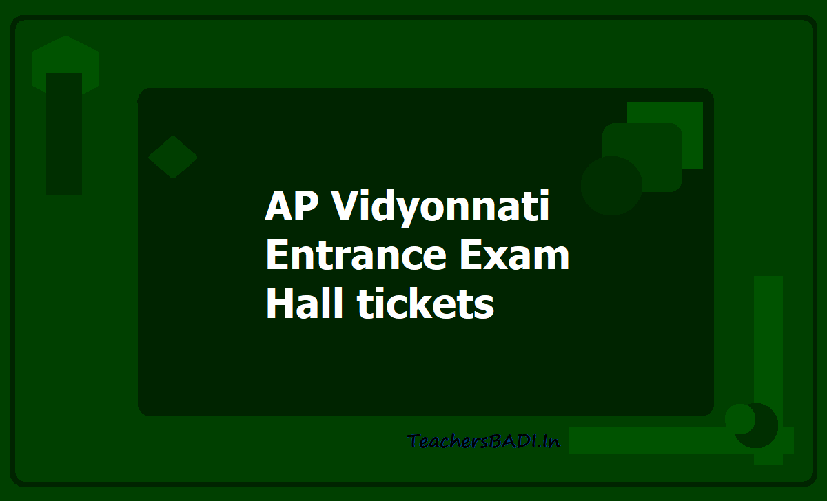 AP Vidyonnati Entrance Exam