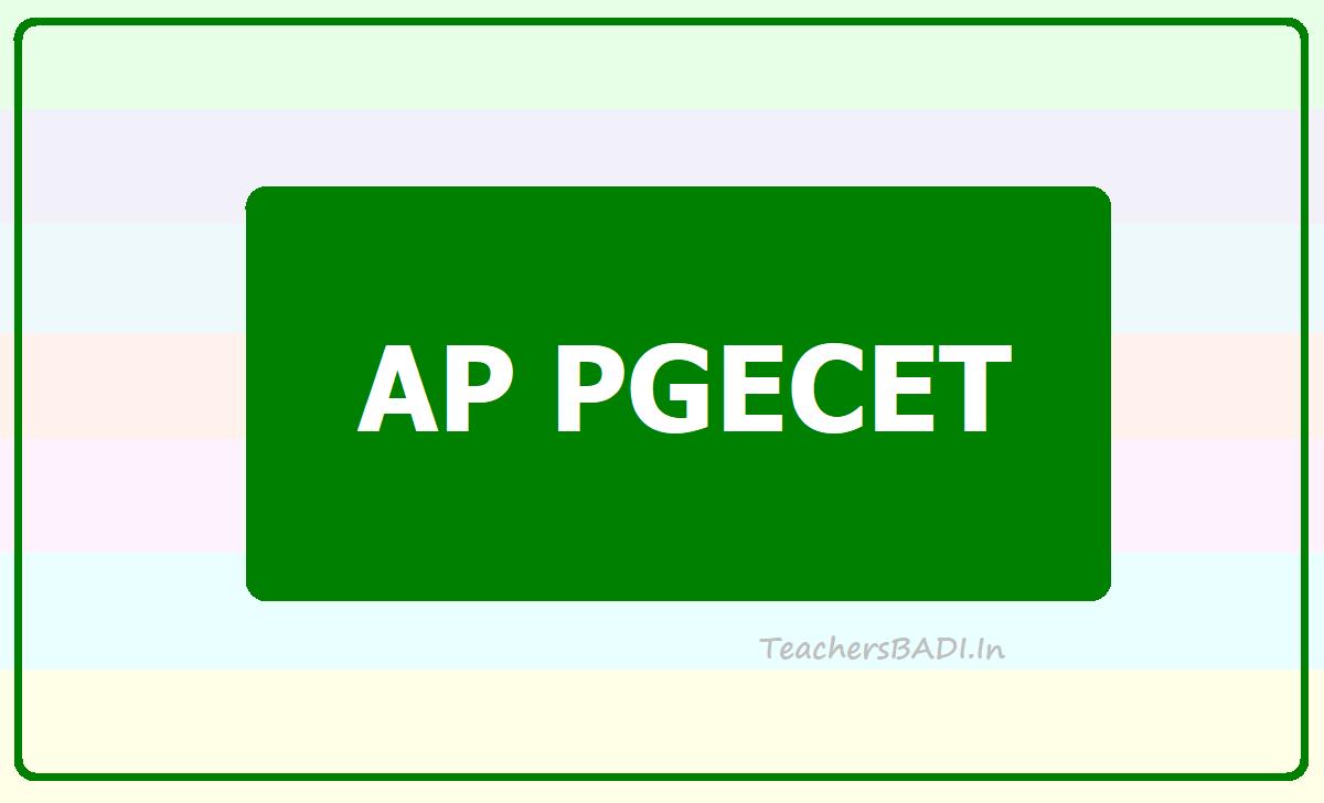 AP PGECET 2021