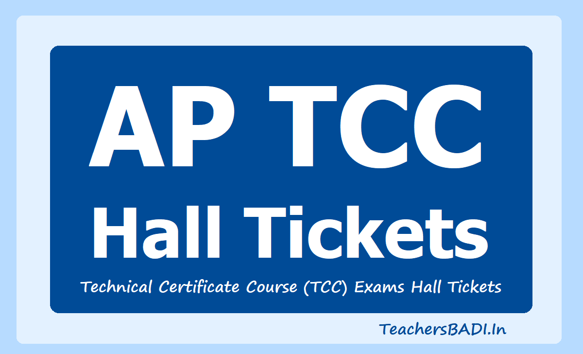 AP TCC TTC Hall Tickets