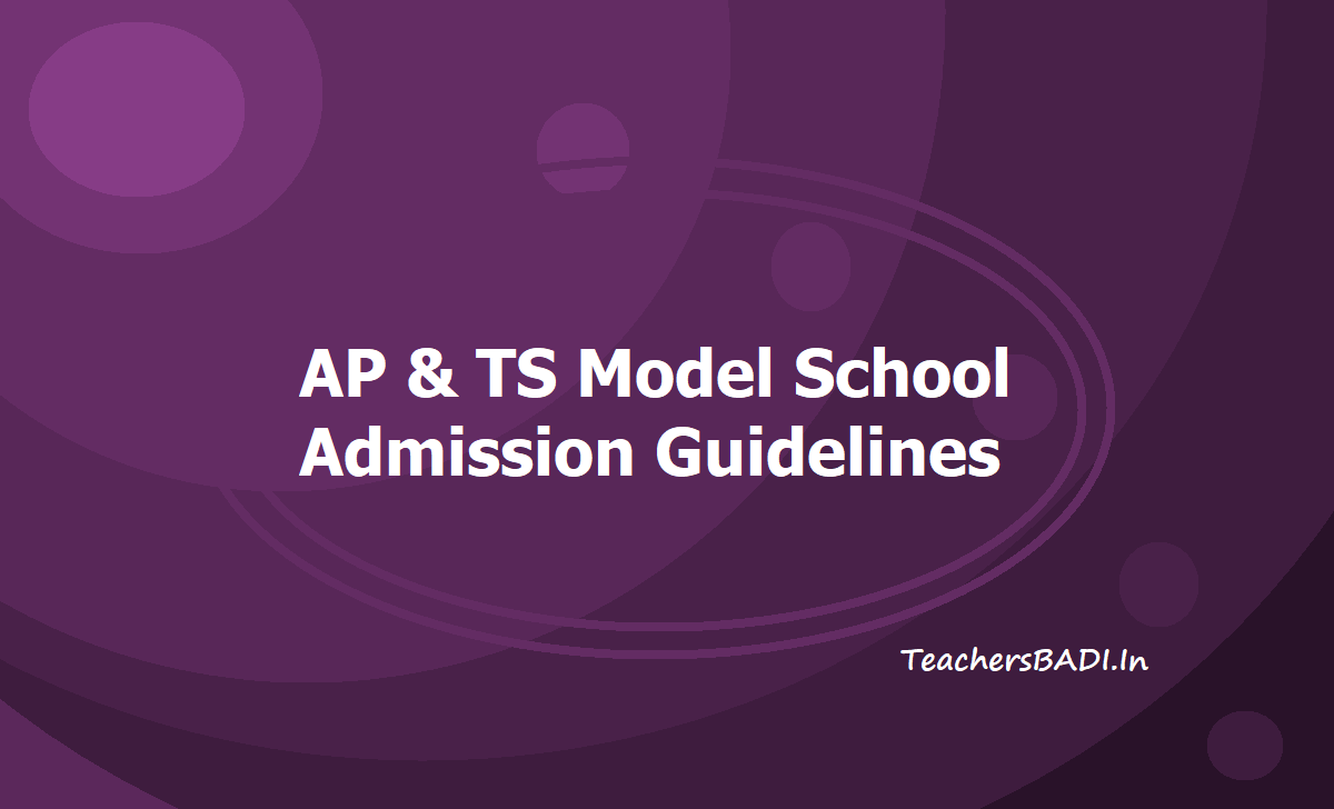 AP & TS Model School Admission Guidelines