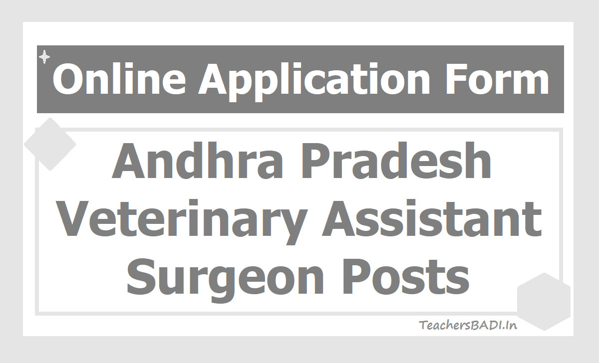 AP Veterinary Assistant Surgeon Posts Application Form