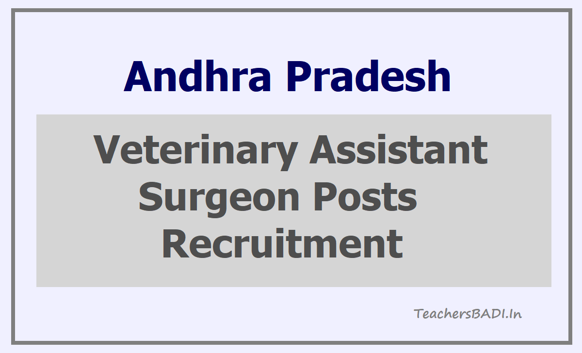 AP Veterinary Assistant Surgeon Posts Recruitment