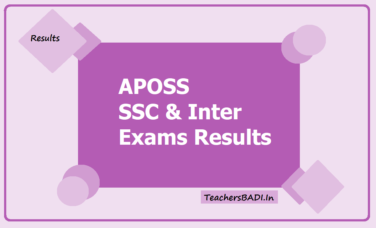 APOSS SSC & Inter Exams Results 2020