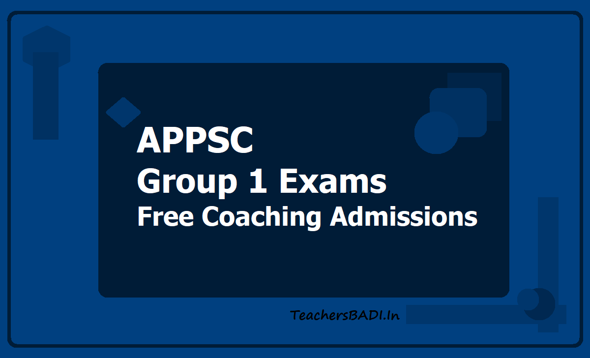 APPSC Group 1 Free Coaching Admissions 2020