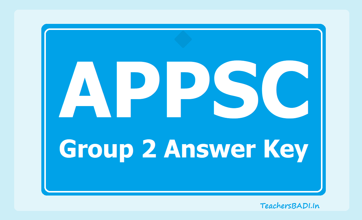 APPSC Group 2 Final Answer Key