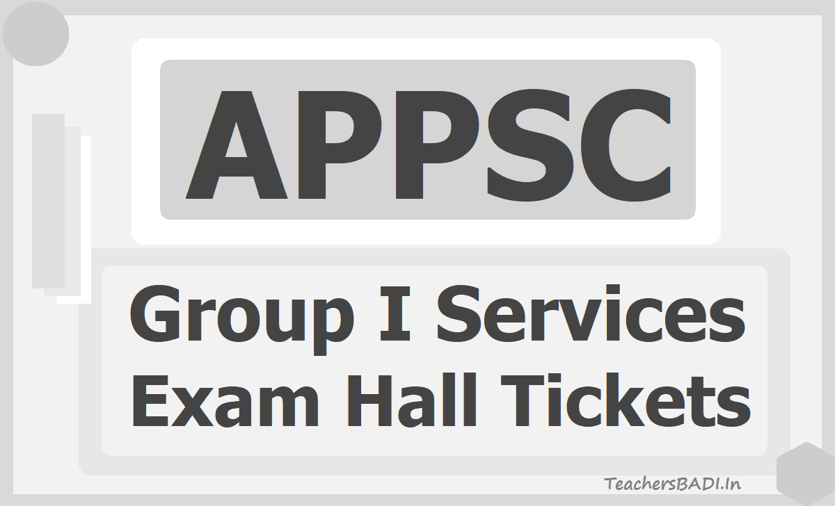 APPSC Group I Services Posts Hall tickets