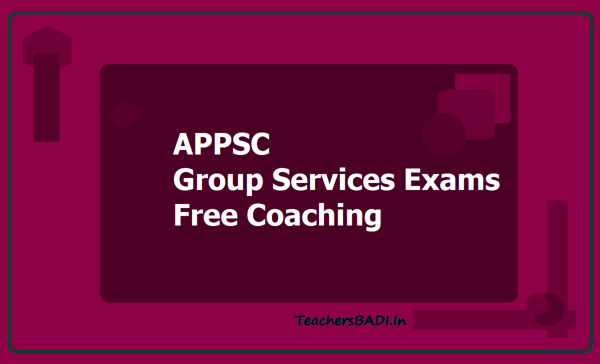 APPSC Group Services Exams  Free Coaching 2020