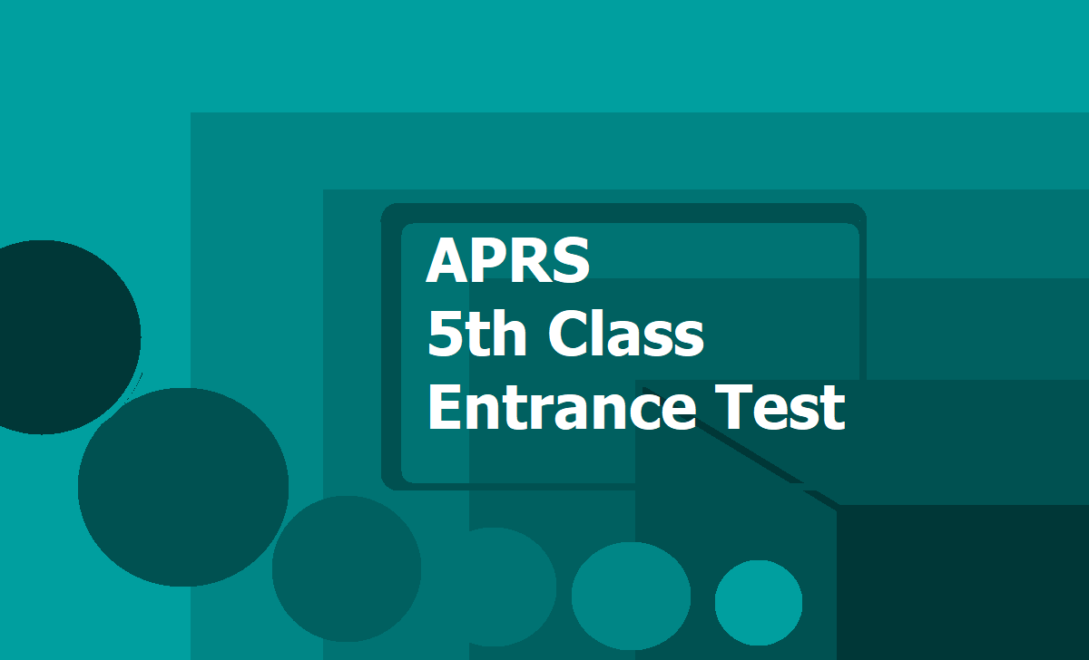 APRS 5th Class Entrance Test