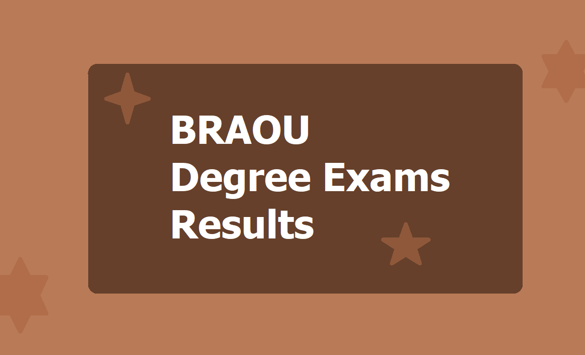 BRAOU Degree Exams Results 2020