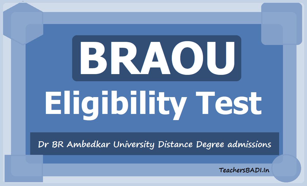 BRAOU Eligibility Test