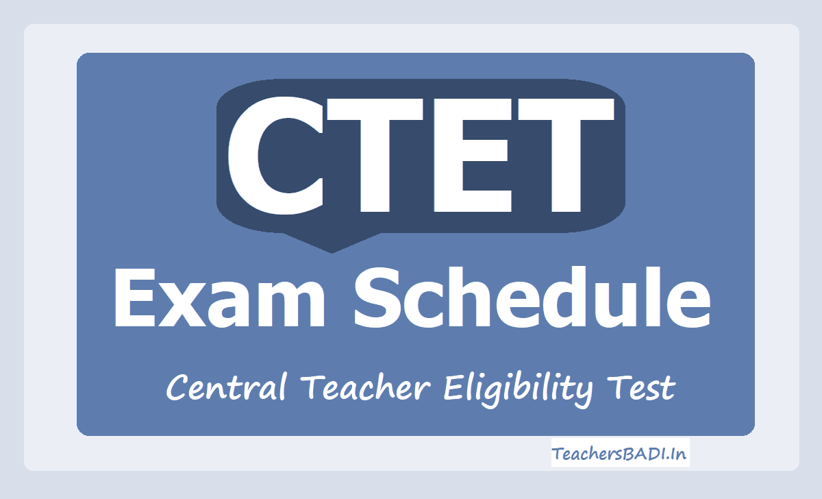 CBSE CTET Exam Schedule 2020