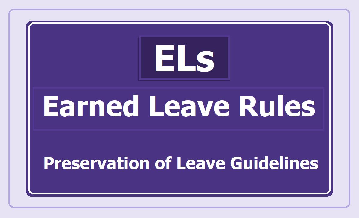 Earned Leave Rules