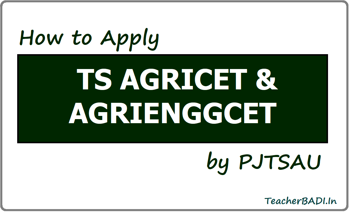 Apply for TS AGRICET/AGRIENGGCET