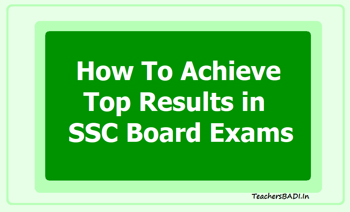 How To Achieve Top Results in SSC