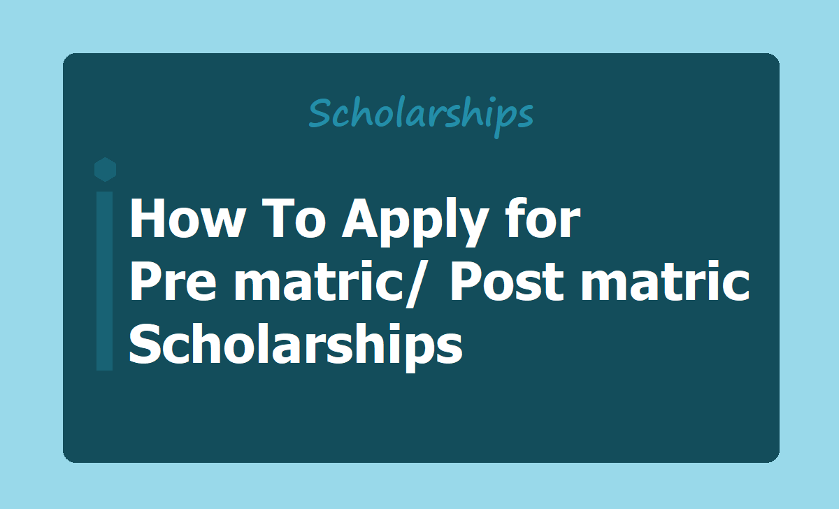 How To Apply for Pre matric Post matric Scholarships at National Scholarship Portal(NSP)
