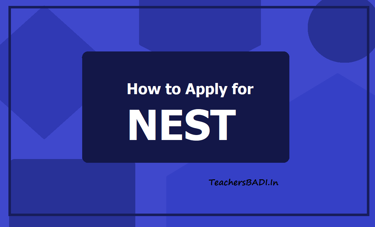 How to Apply for NEST 2021