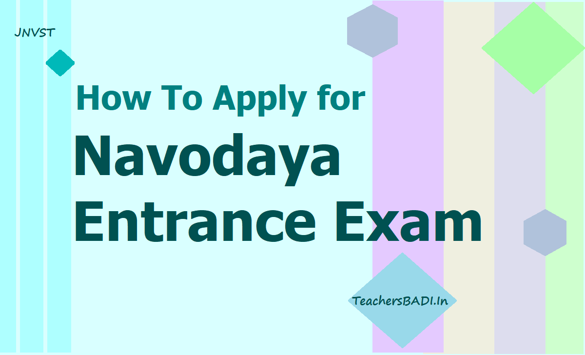 How To Apply for Navodaya Entrance Exam