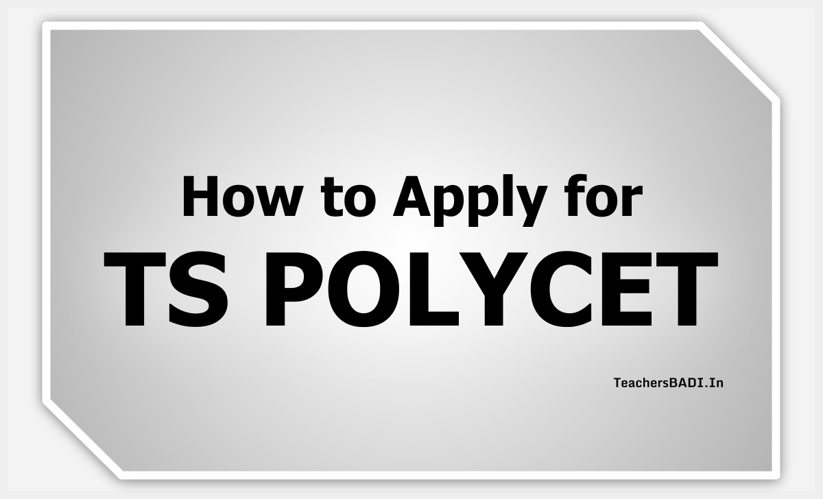 How to Apply for TS POLYCET