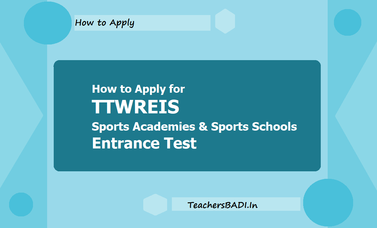 How to Apply for TTWREIS Sports Academies & Sports Schools Entrance Test 2021