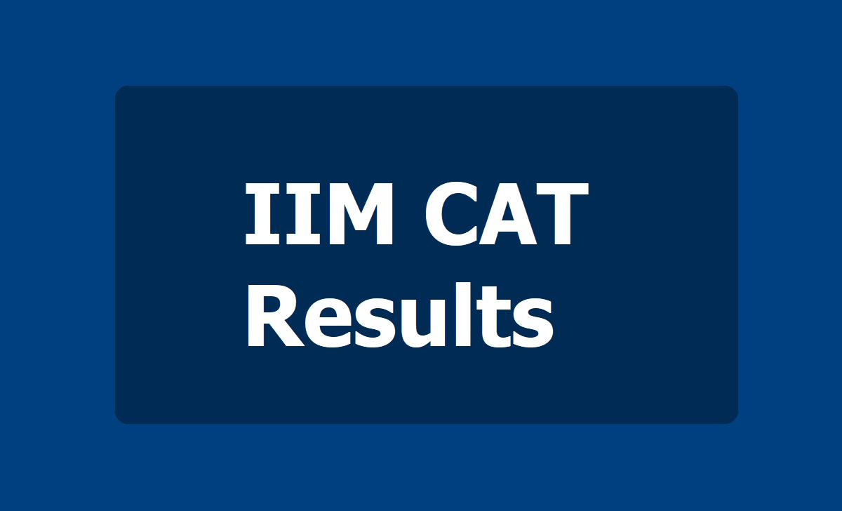 IIM CAT Results 2020