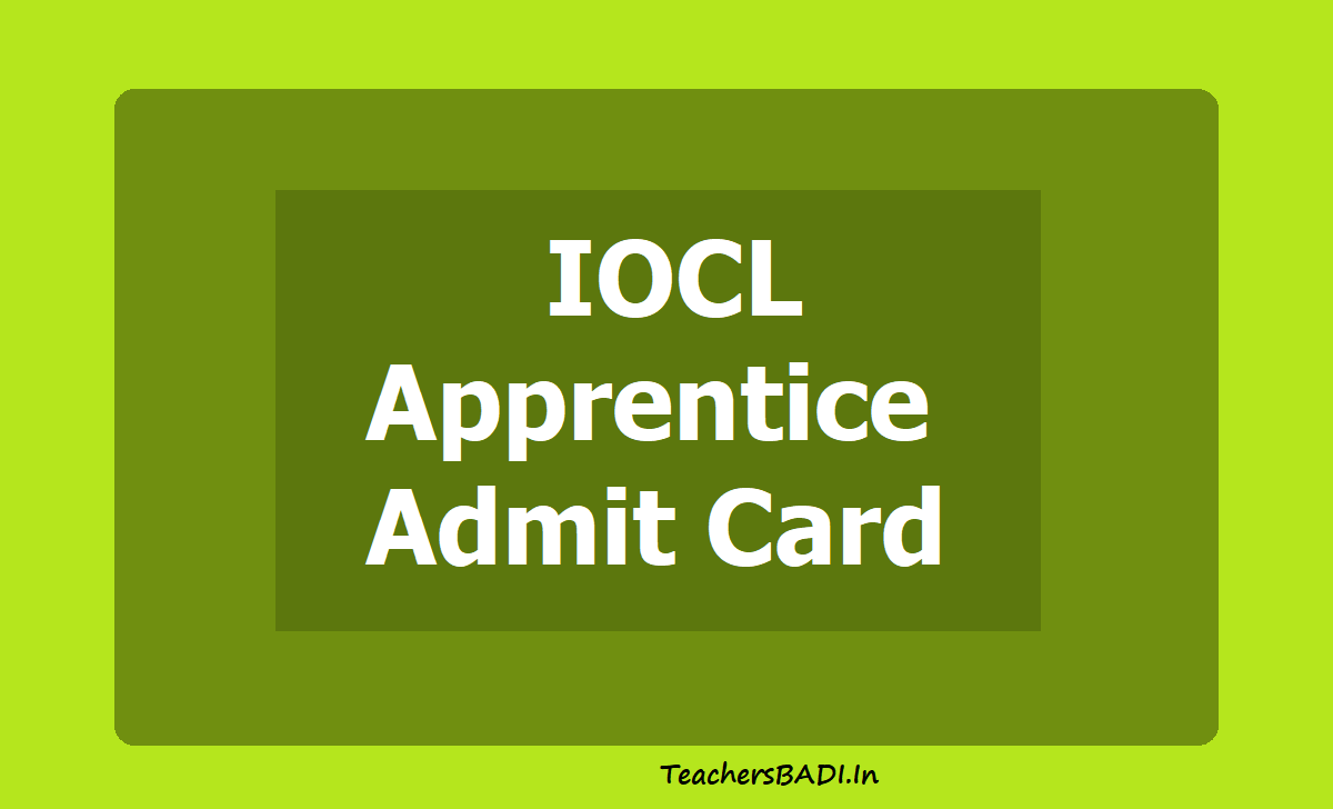 IOCL Apprentice Admit Card 2020 download