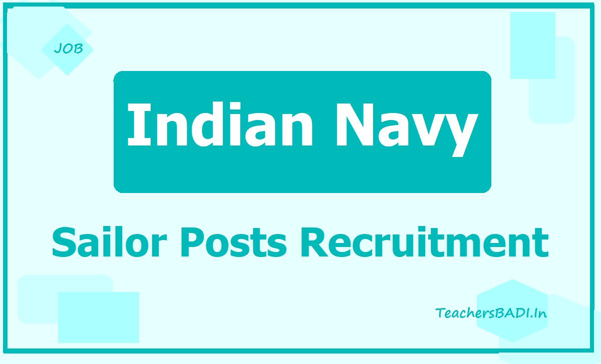 Indian Navy Sailor Posts Recruitment