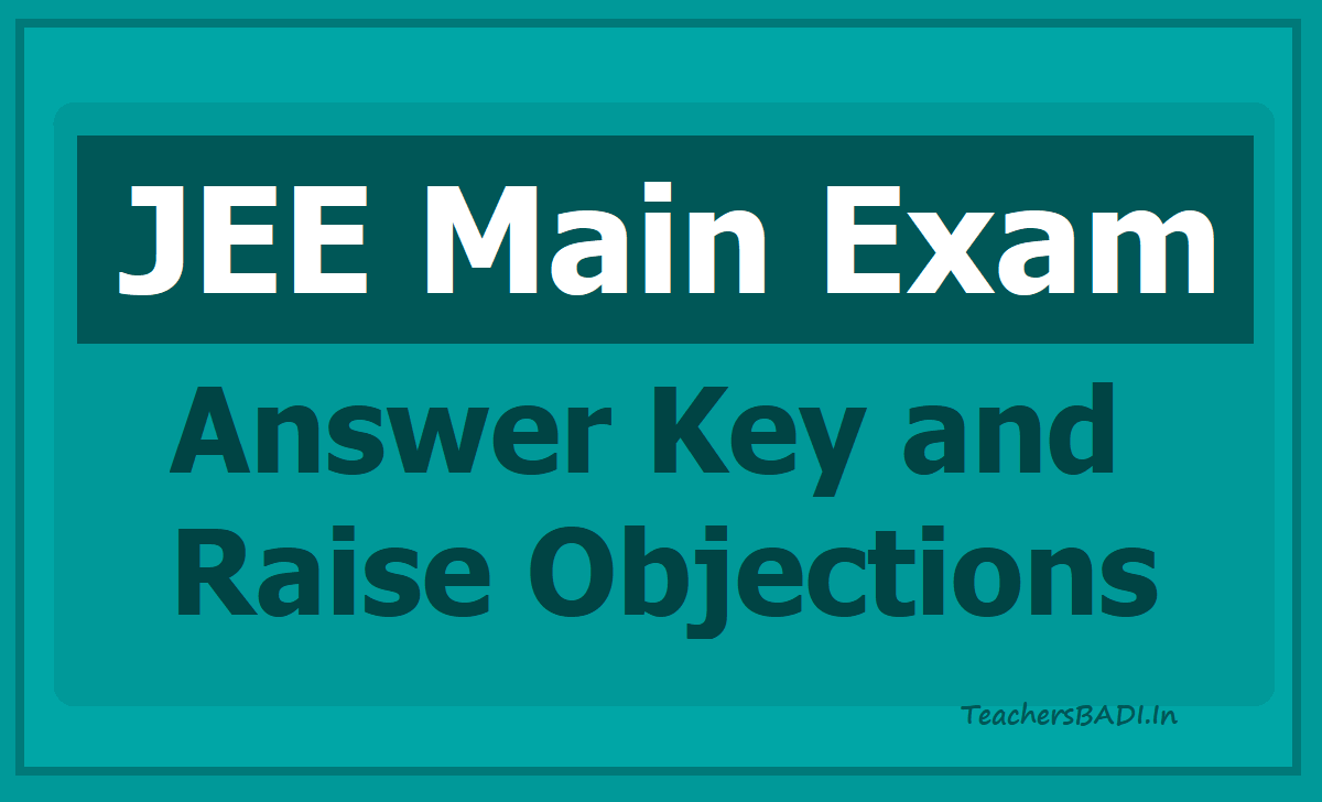JEE Main Answer Key - Raise Objections