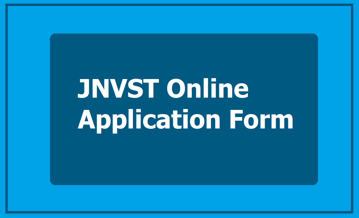 JNV Selection Test Online application form
