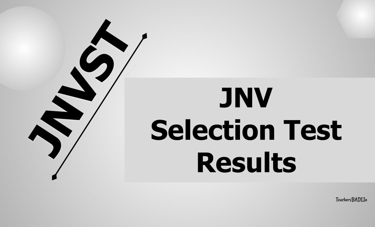 JNV Selection Test Results