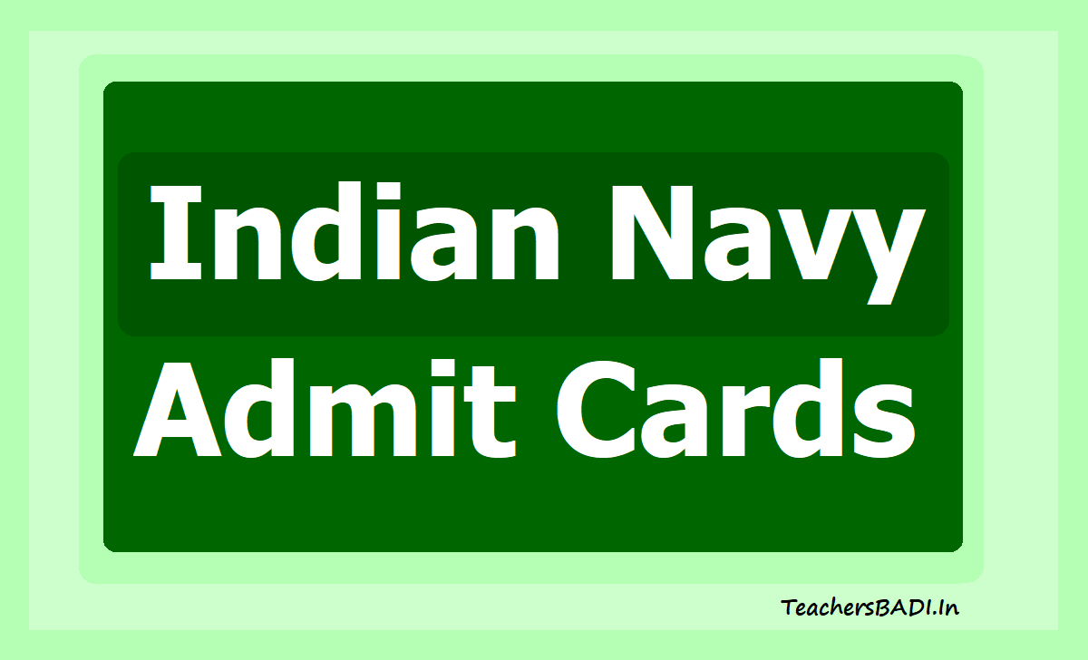 Join Indian Navy Admit Card